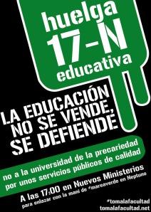 Movilizaciones por la Educación Pública 17n_pegatina1